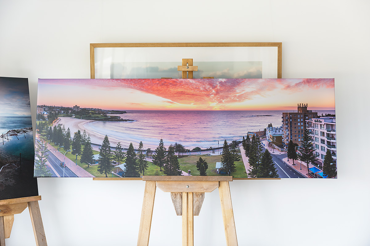 70 inch wide stretched canvas Coogee Beach Sydney