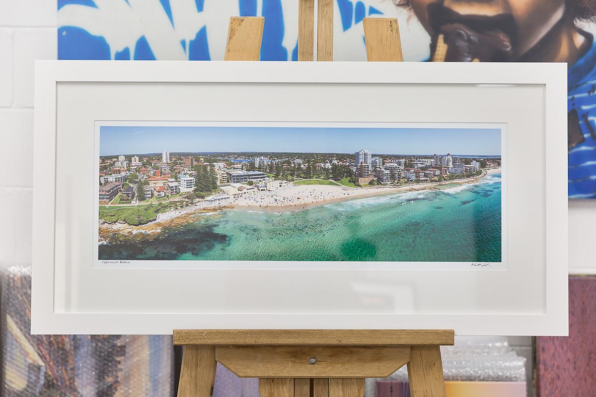 Cronulla Beach - 30 inch framed photo in White
