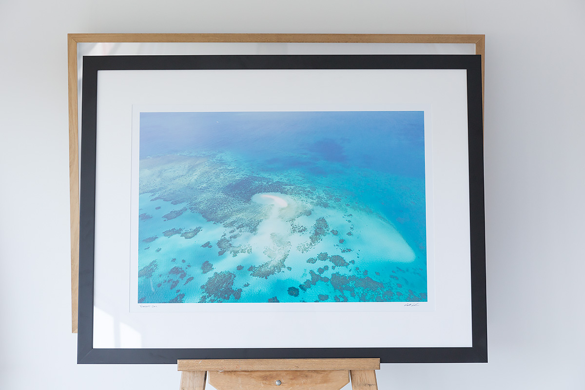 30 x 20 inch framed photo Vlassof Cay Black