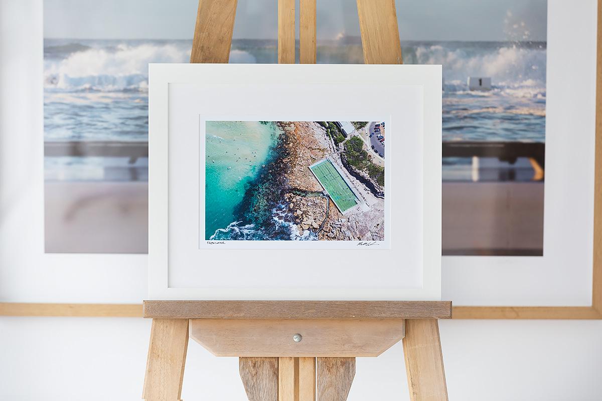 freshwater beach ocean pool 12 x 8 inch photo white frame. Black Bedroom Furniture Sets. Home Design Ideas