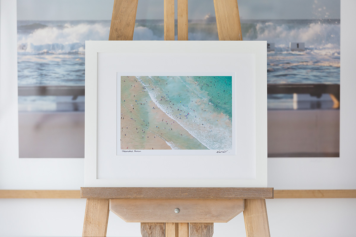 Freshwater Surf 12 X 8 Inch Photo Framed In A White Frame Sydney