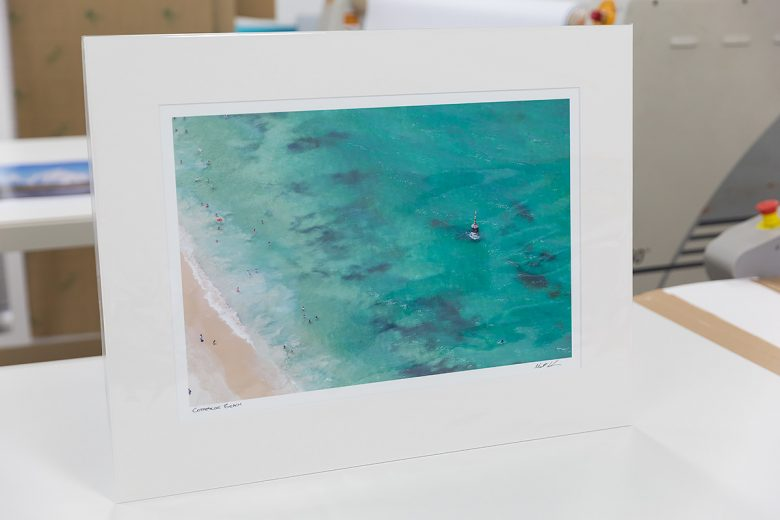 Cottesloe Beach Aerial - 18 x 12 inch - Mounted ready for framing