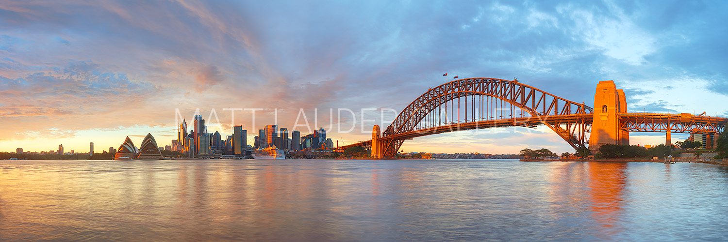 Sydney Harbour Red Sunrise Photos