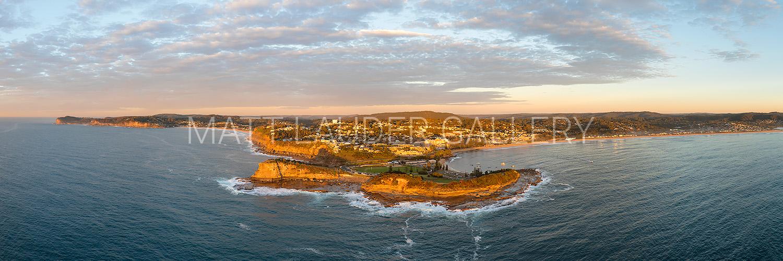 Terrigal Aerial - Skillion - Morning Sunrise Photos