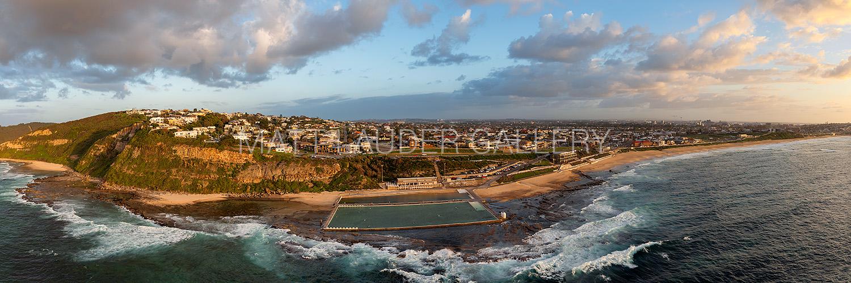 Merewether Ocean Baths Aerial Panoramic Images