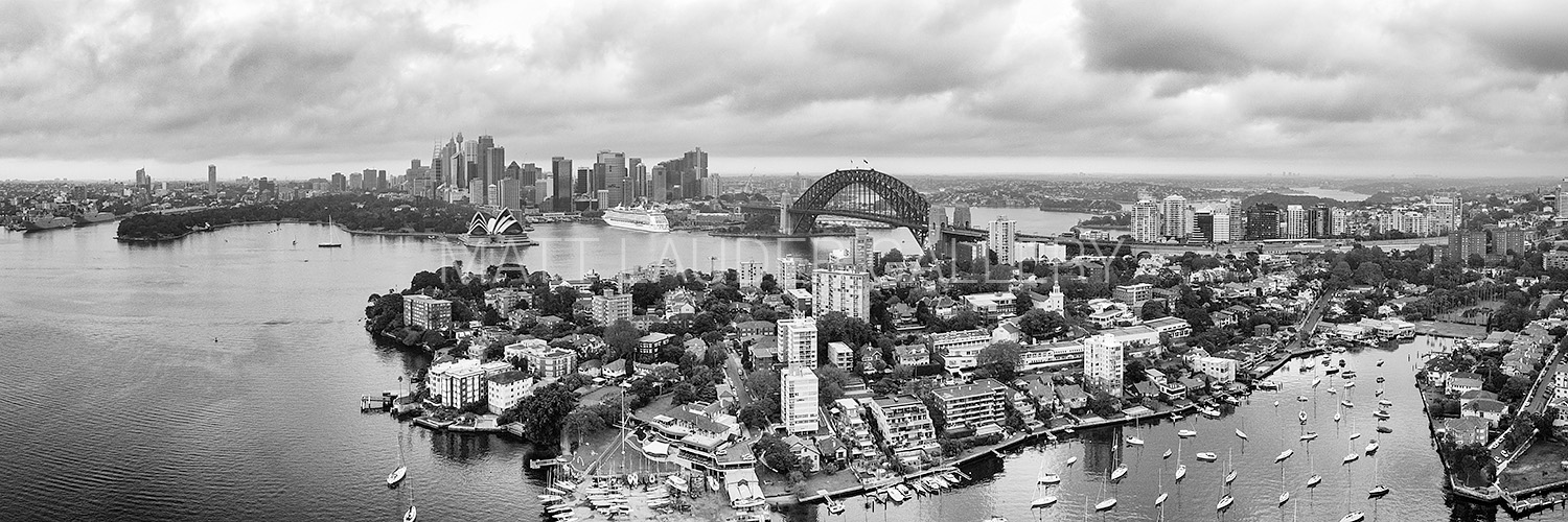 Sydney Harbour Panoramic Aerial Images