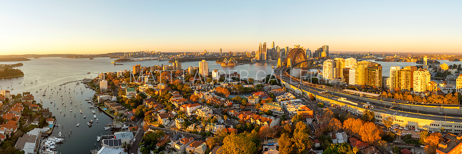 North Sydney Aerial Sunrise Photo