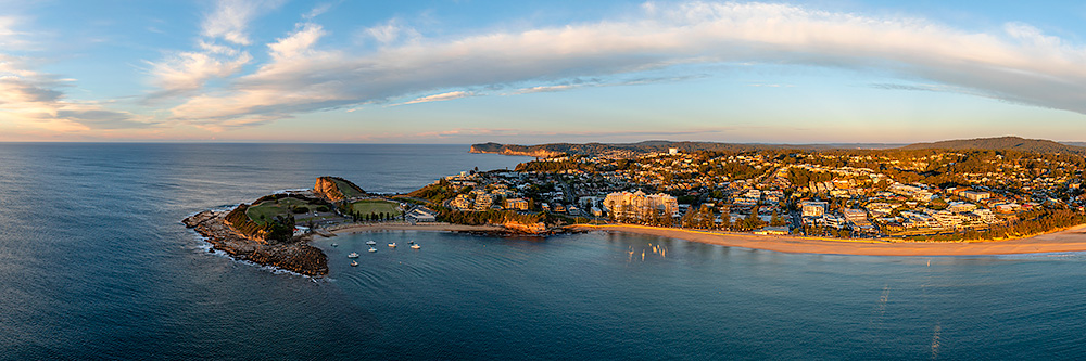 Terrigal Aerial Panoramic Morning Light Images