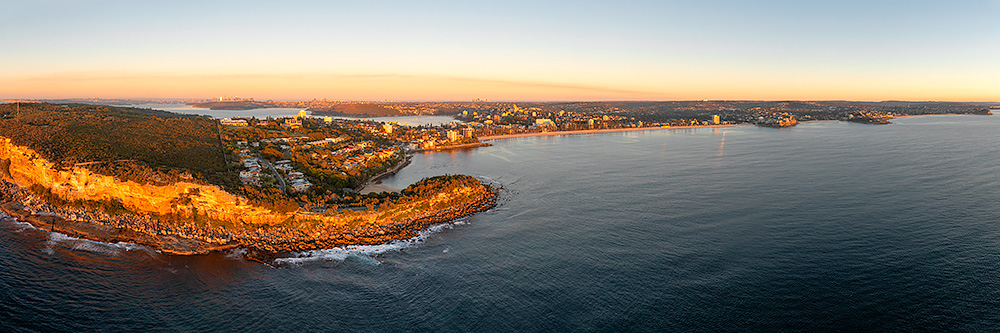 Shelly to Manly Beach Aerial Panoramic Photos