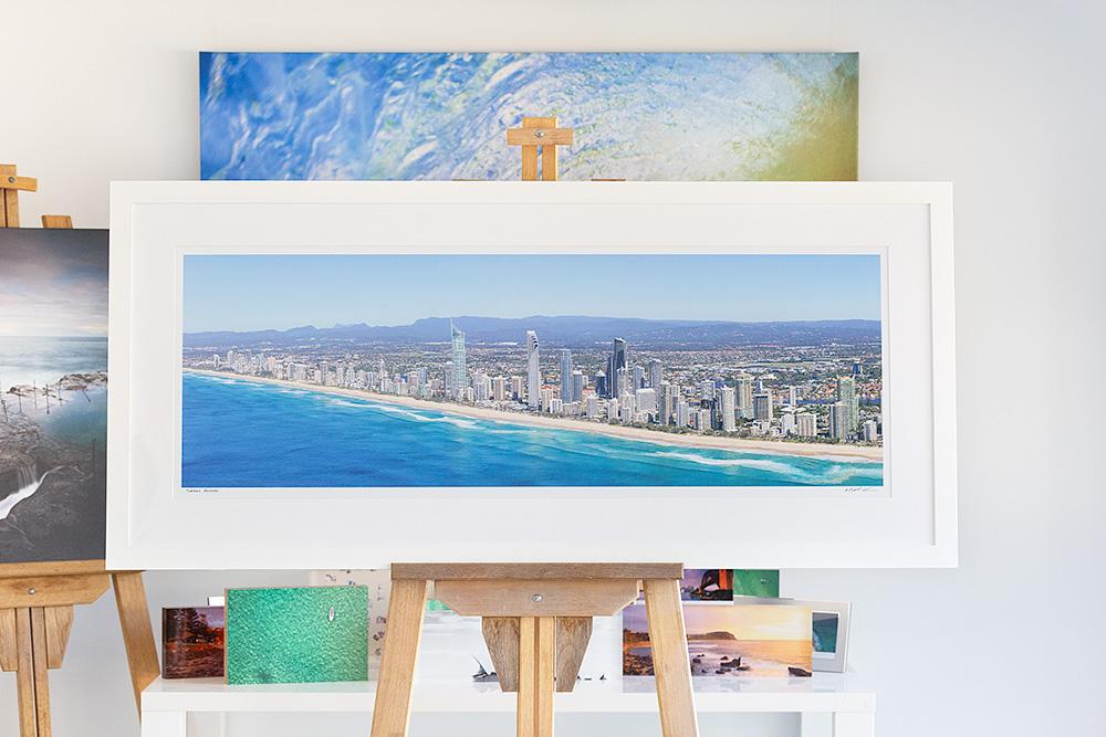 Surfers Paradise - 50 inch Framed Photo - White Frame - Gold Coast