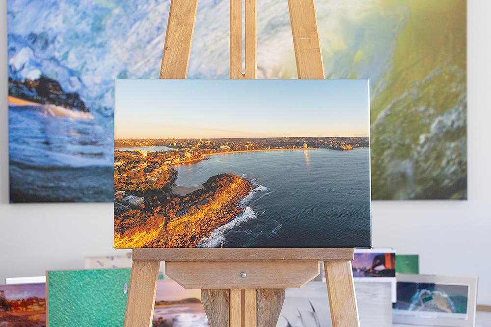 Shelly to Manly Beach Stretched Canvas