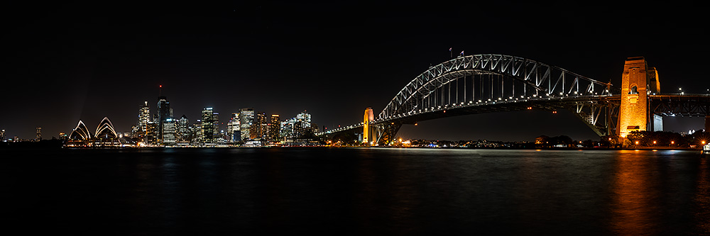 Sydney City Panoramic City Lights Photo
