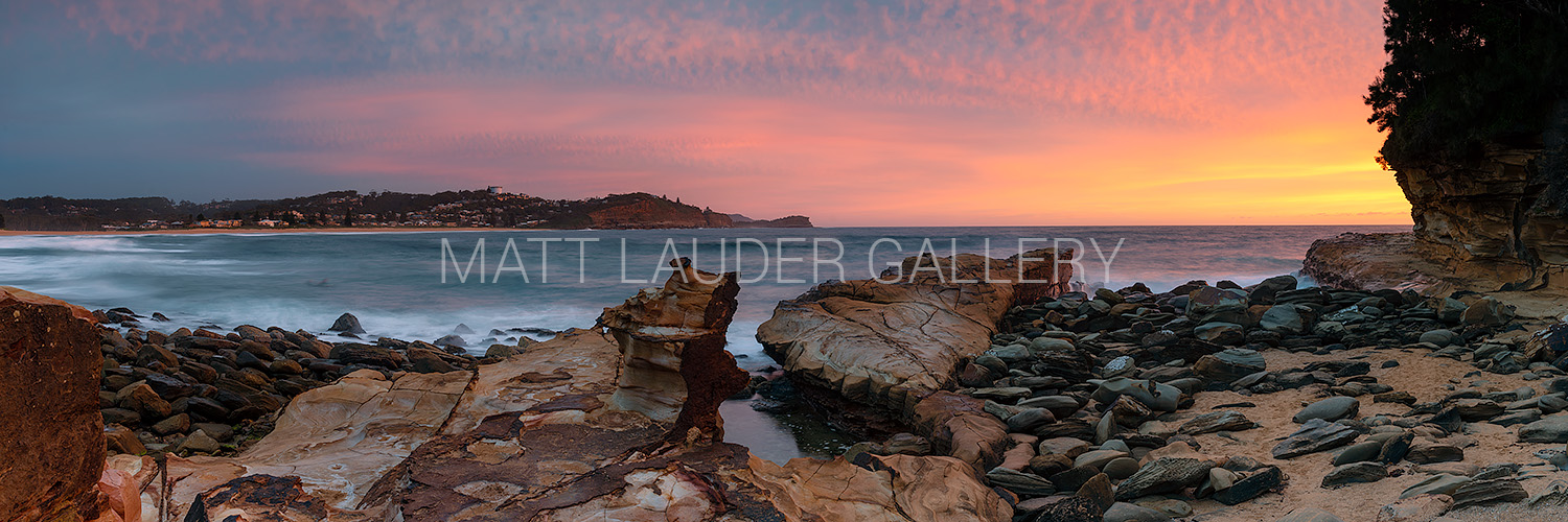 Avoca Beach Red Dawn Sunrise Images