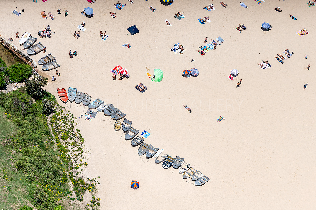 Coogee Beach Boats Aerial Images