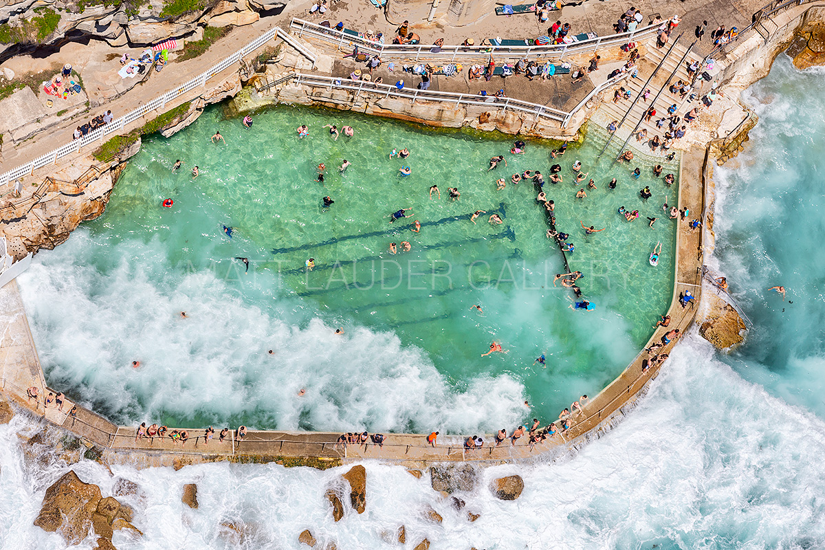 Bronte Ocean Baths Aerial Landscape Images