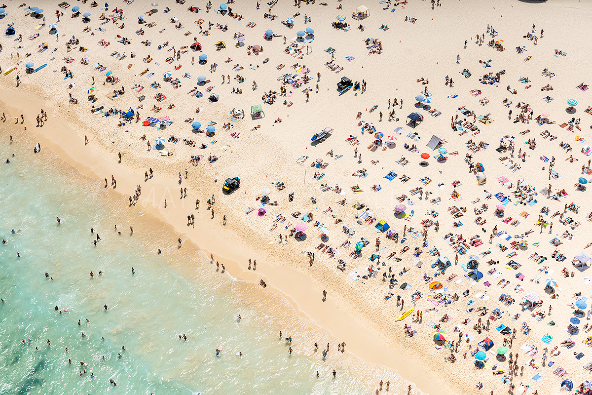 Bondi Beach Surf Rescue Aerial Photo