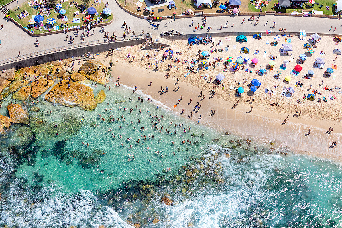Bronte Beach Rock Pool Aerial Images