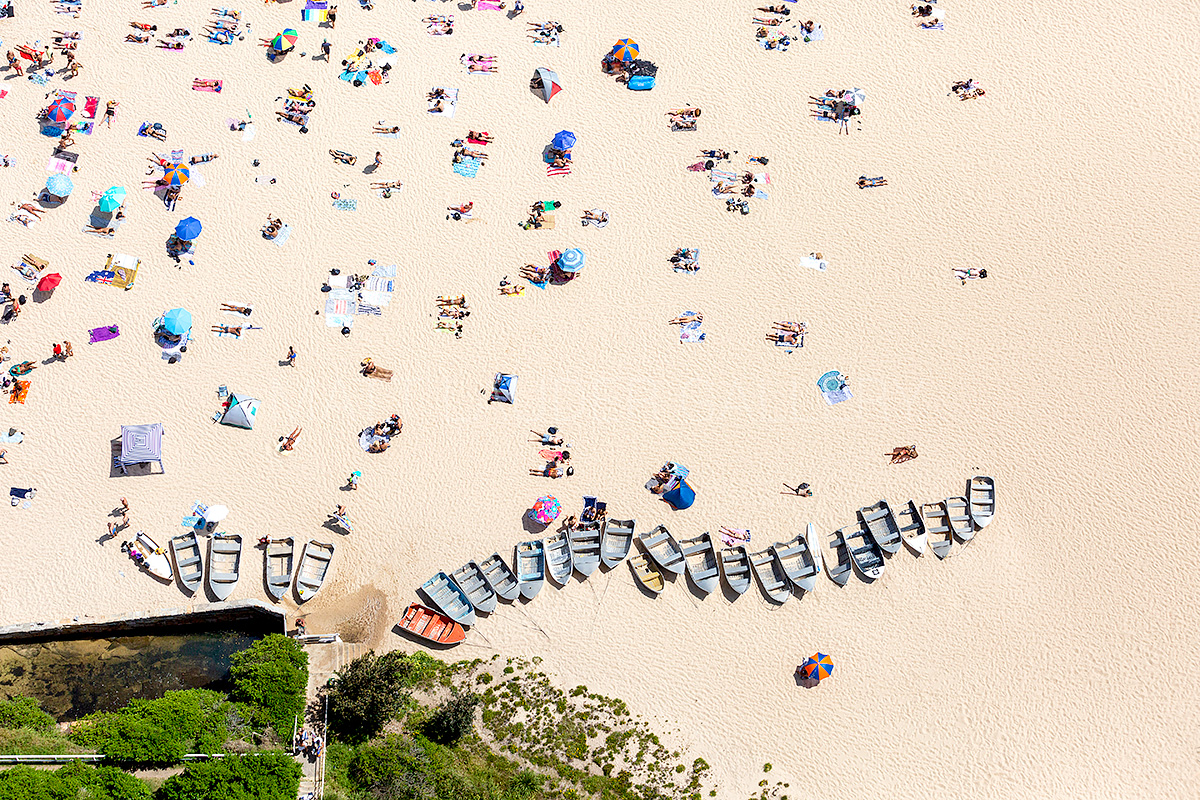Coogee Beach Boats Aerial Images Sydney
