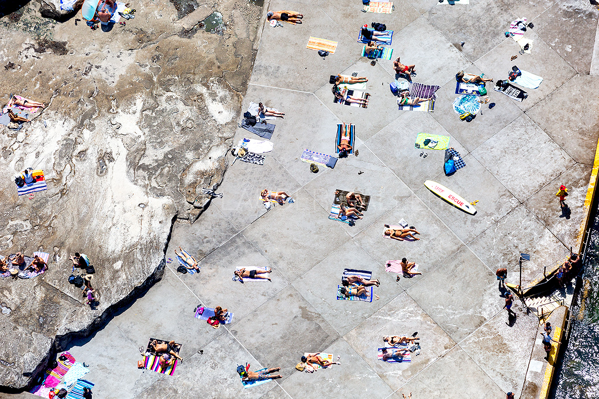 Clovelly Beach Aerial Landscape Images
