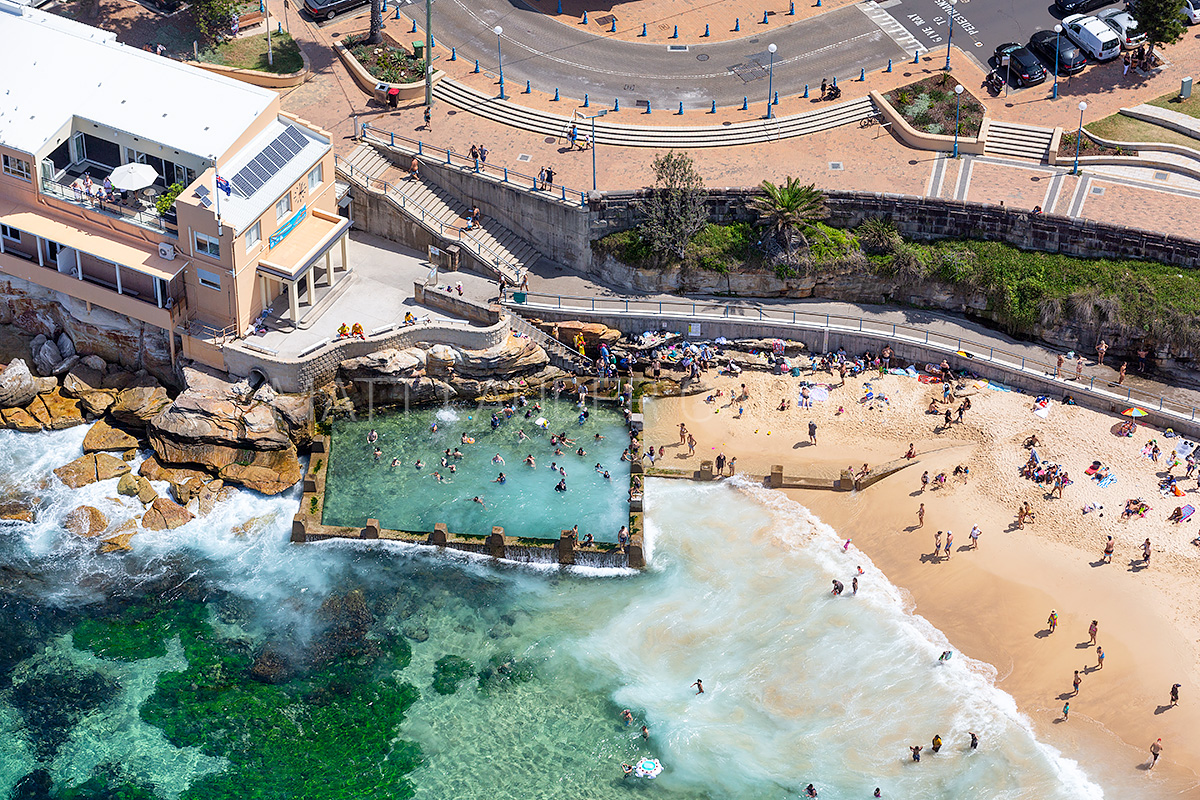 Coogee Beach Ocean Baths Aerial Pictures