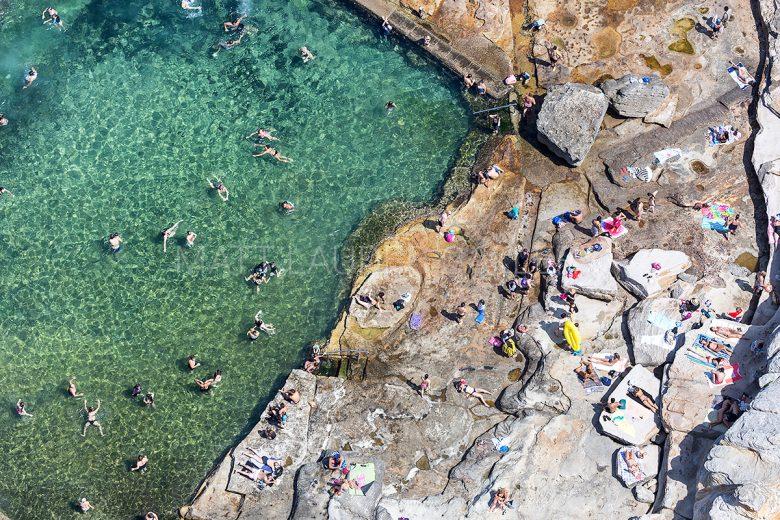 Mahon Pool Ocean Baths Aerial Photos