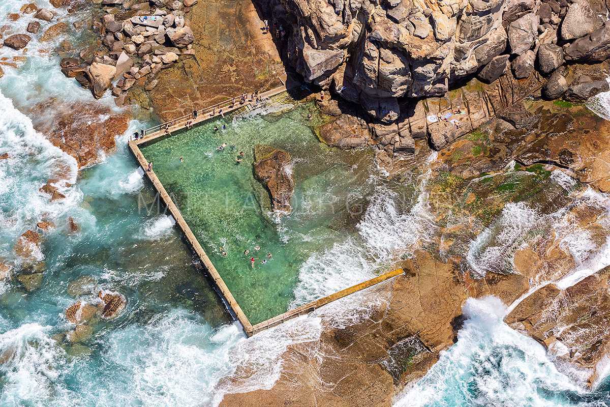 North Curl Curl Ocean Baths Images Aerial