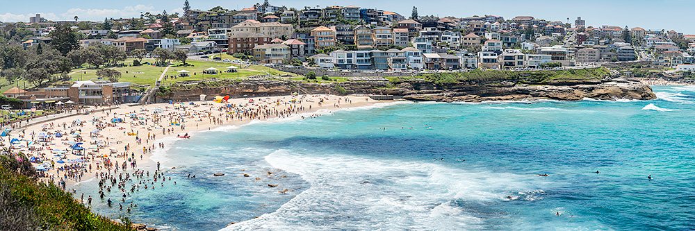 Bronte Beach Panoramic Summer Fun Photos