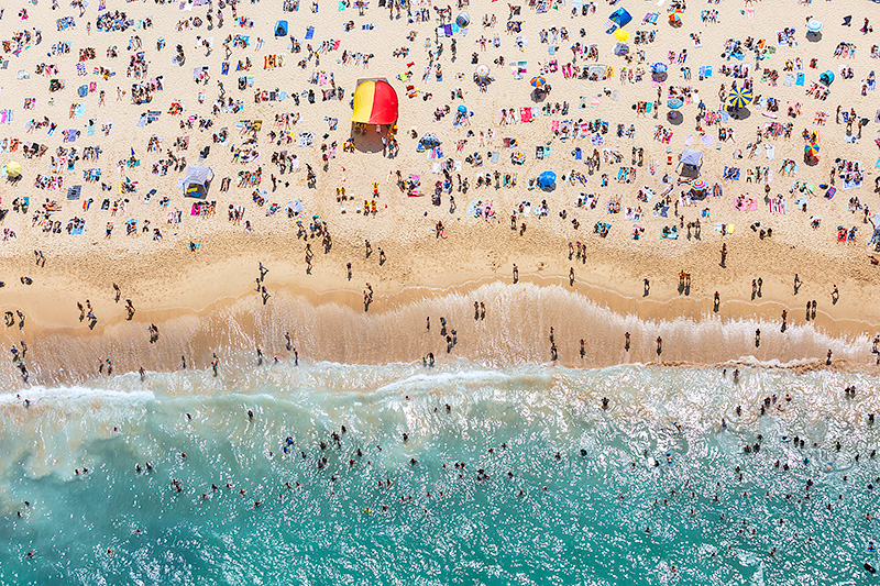 Coogee Beach Australia Day Aerial Images