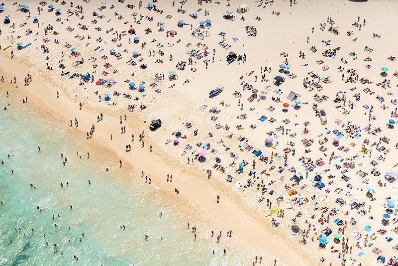 Bondi Beach Surf Rescue Aerial Images