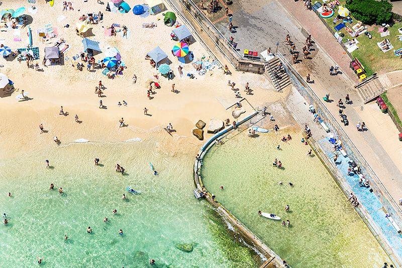 North Bondi Ocean Baths Aerial Photos