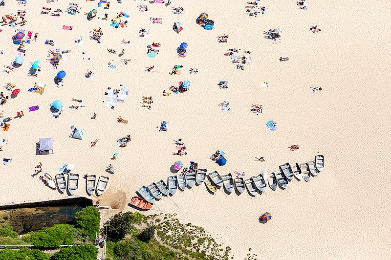 Coogee Beach Boats Aerial Photos Sydney