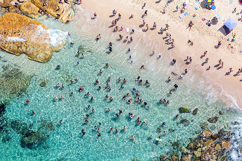 Bronte Rock Pool Aerial Photos