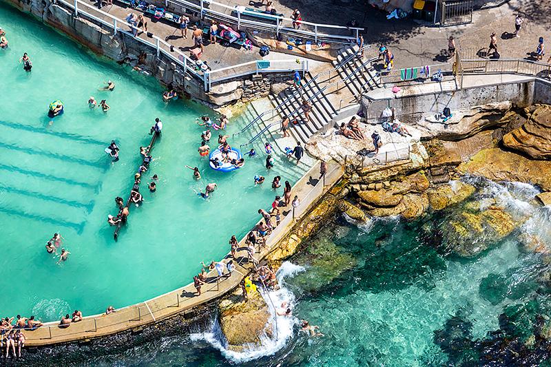 Bronte Ocean Baths Aerial Photos