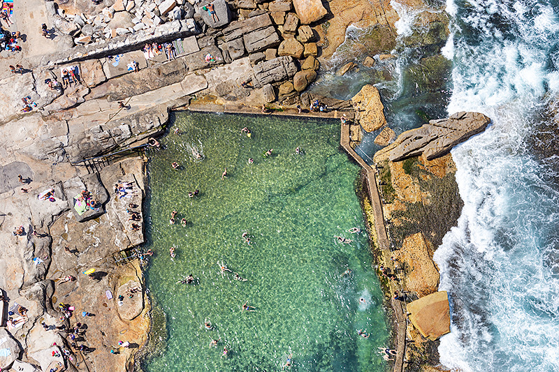 Maroubra Baths Mahon Pool Aerial Photos