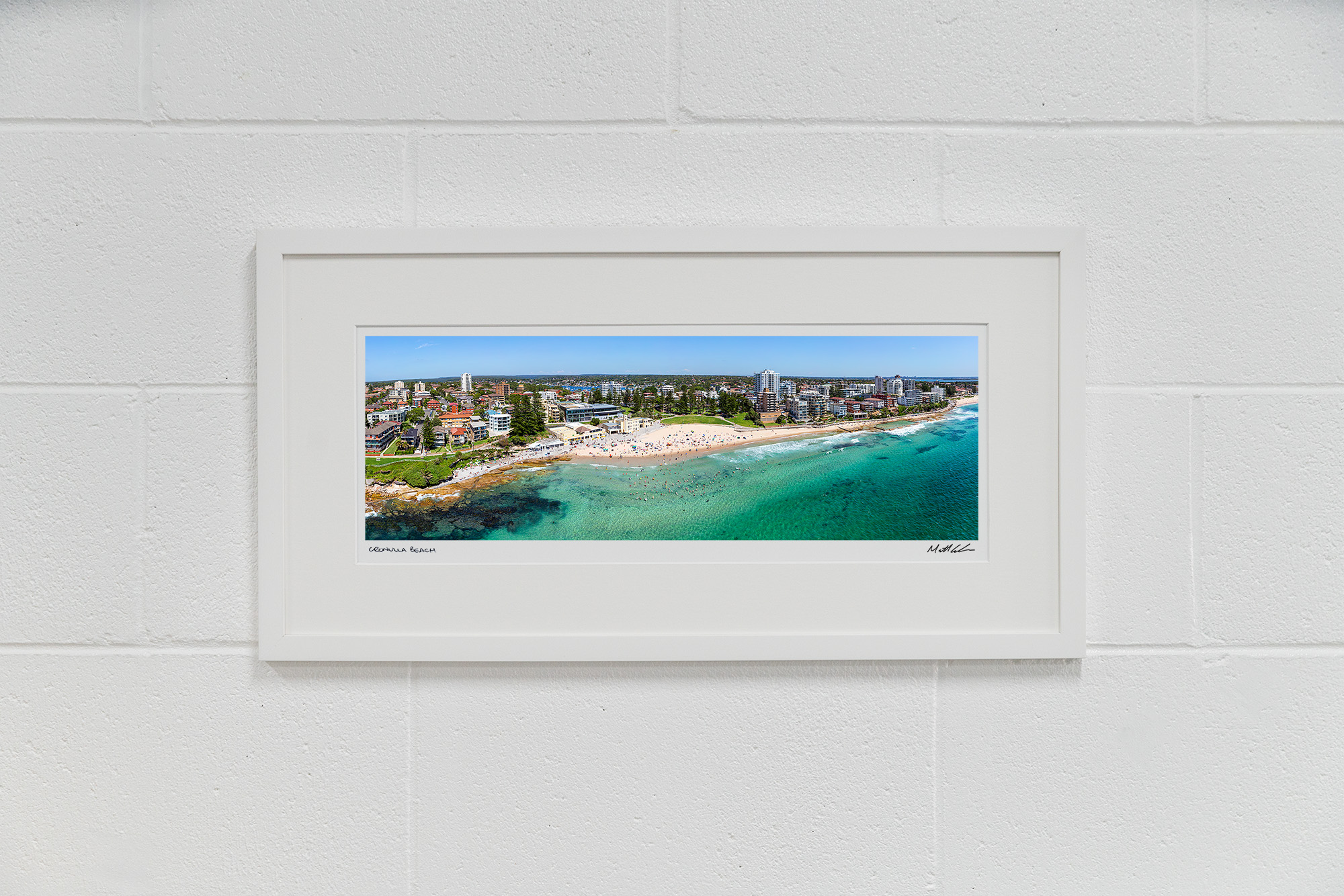 Cronulla Beach Framed Aerial Photoss