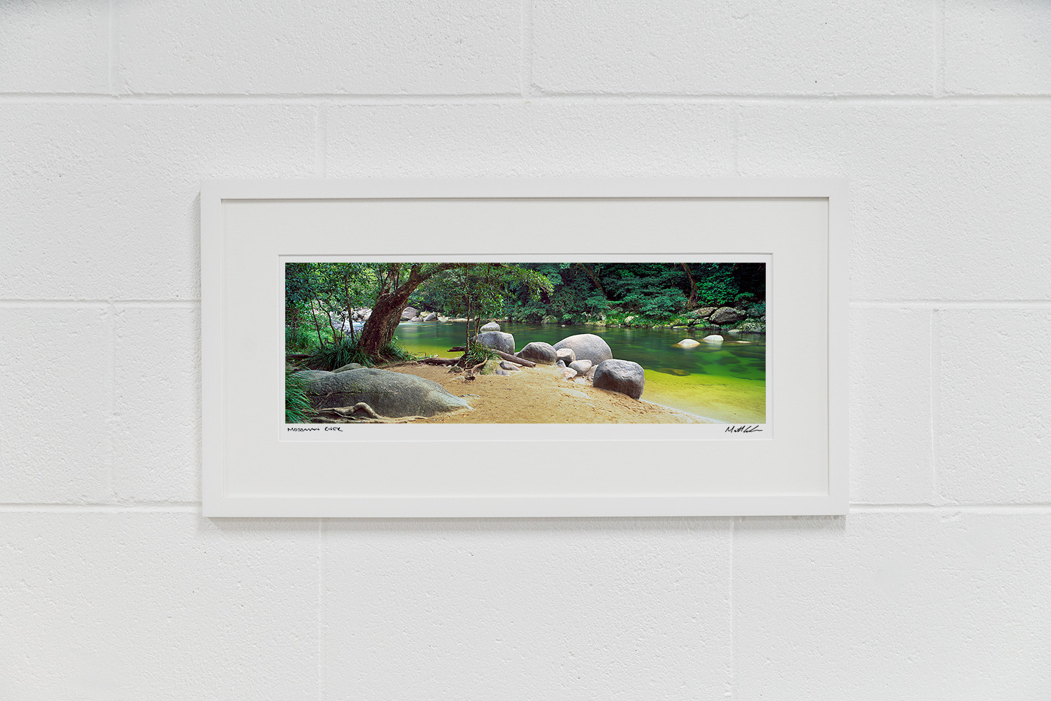 Mossman River Gorge Framed Photos White