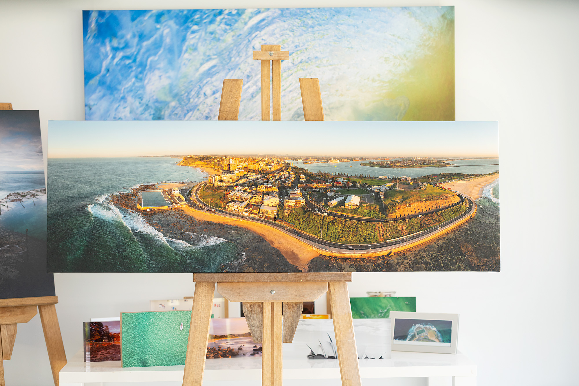 Newcastle Aerial Panoramic Canvas Artwork