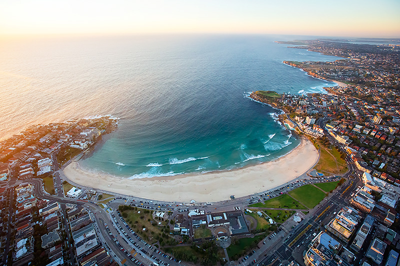 Bondi Beach Aerial Sunrise Photos