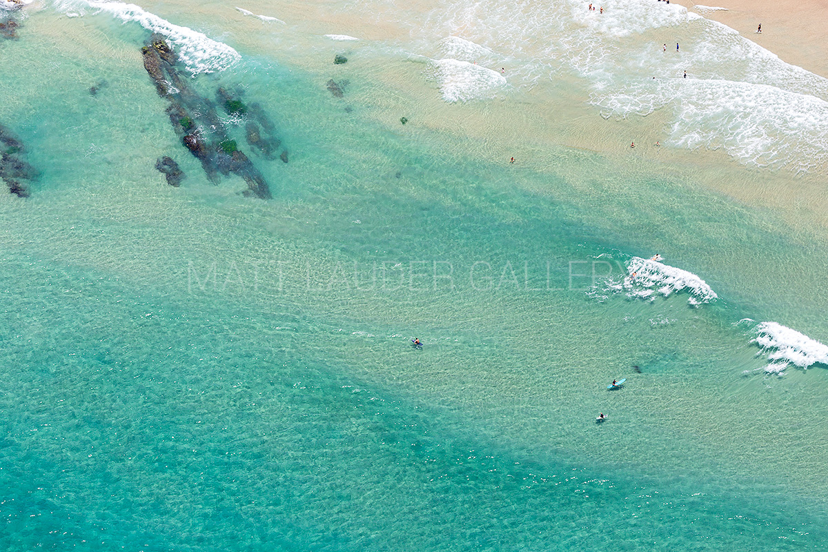 Wategos Beach Byron Bay Surfer Aerial Photos